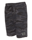 Side view of a black camo pair of Rawlings men's fleece shorts - SKU: RSGFS-B/HC image number null