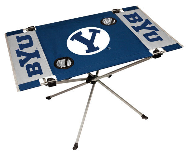 Rawlings Blue and White NCAA BYU Cougars Endzone Table With Two Cup Holders, Team Logo, and Team Name SKU #04053008111