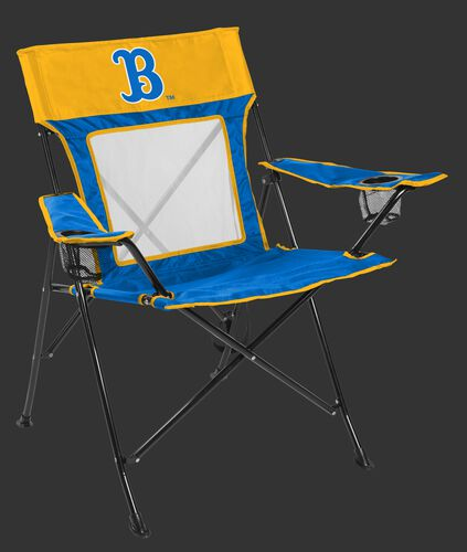 Front of Rawlings Blue and Yellow NCAA UCLA Bruins Game Changer Chair With Team Logo SKU #00643065111