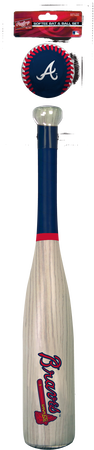 MLB Atlanta Braves Bat and Ball Set