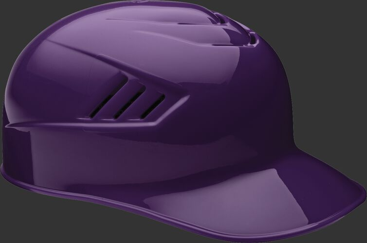 A purple CFPBH Coolflo adult base coach helmet with Coolflo vents