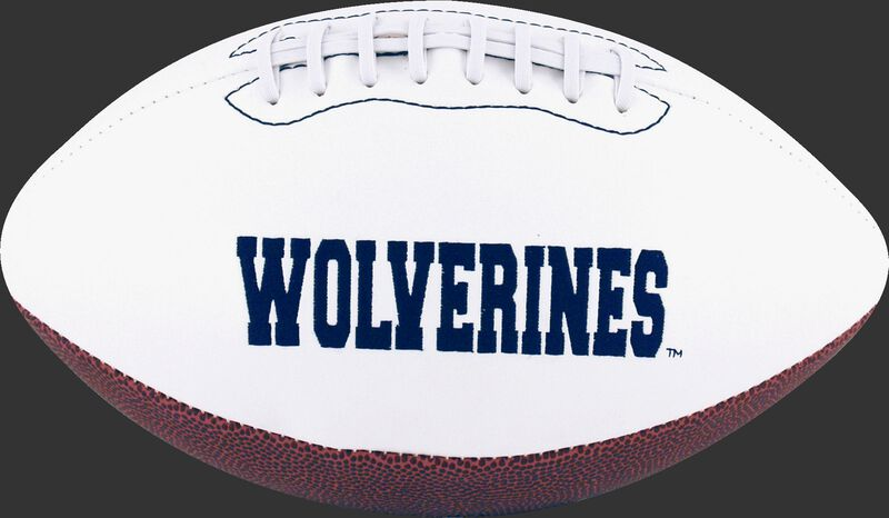 White NCAA Michigan Wolverines Football With Team Name SKU #05733083121