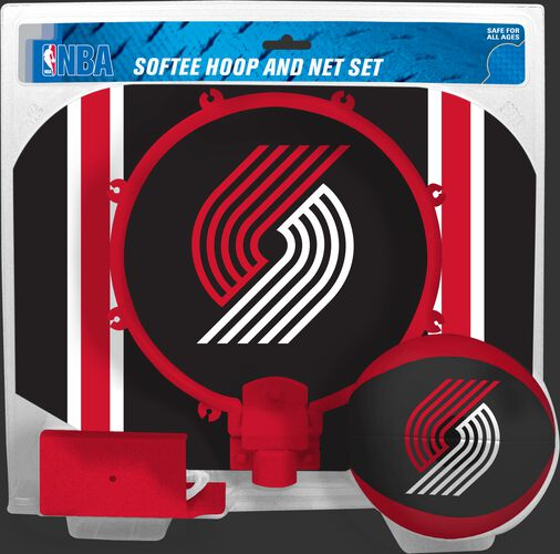 Rawlings Black and Red NBA Portland Trail Blazers Softee Hoop Set With Team Logo SKU #03544215114