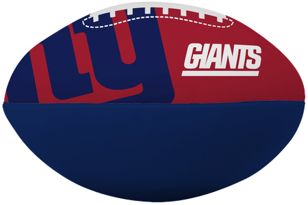 NFL New York Giants Big Boy softee football featuring team logos and printed in team colors