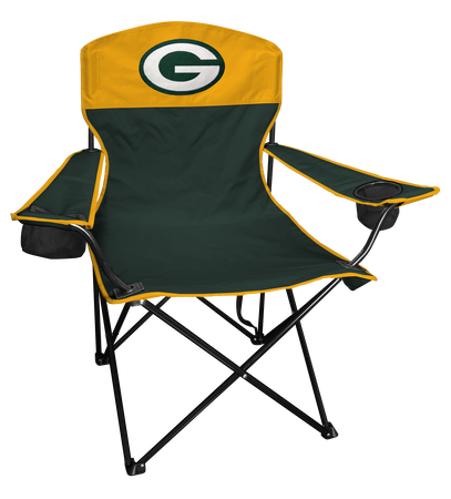 NFL Green Bay Packers Lineman chair with team colors and logo on the back
