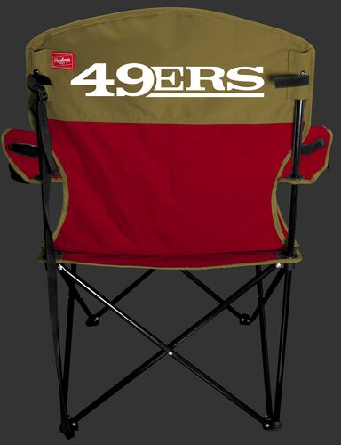 Back of Rawlings Gold and Scarlet NFL San Francisco 49ers Lineman Chair With Team Name SKU #31021084111