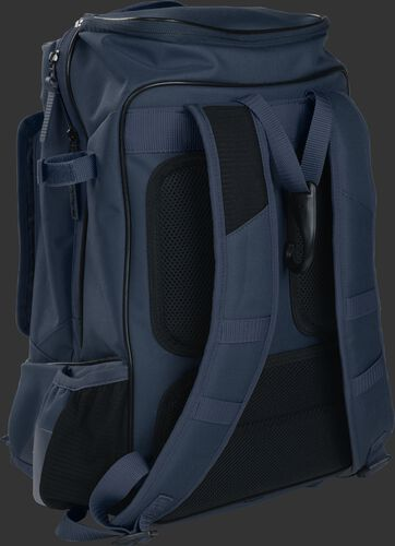 Left back view of a navy R701 training bag with navy shoulder straps