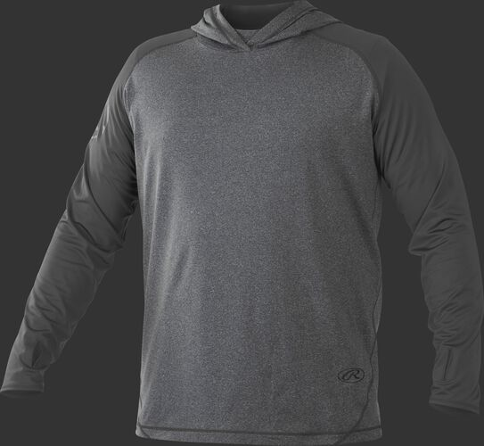 Front of Rawlings Dark Shadow Adult Hurler Lightweight Hoodie - SKU #HLWH-GR/B-88