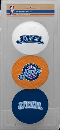 NBA Utah Jazz Three-Point Softee Basketball Set