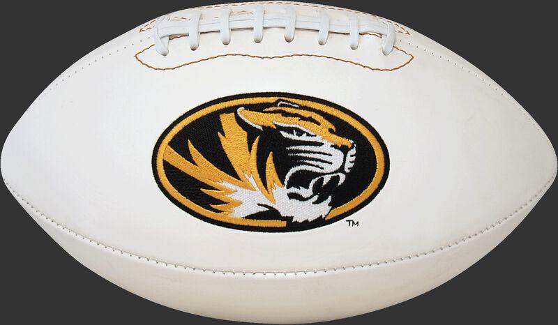White NCAA Missouri Tigers Football With Team Logo SKU #05733086121