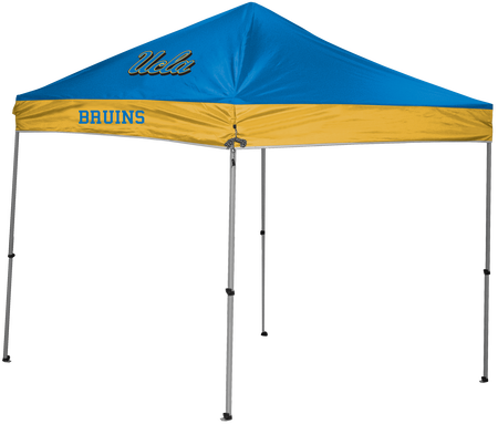 NCAA UCLA Bruins 9x9 canopy shelter in team colors with a team logo printed on top
