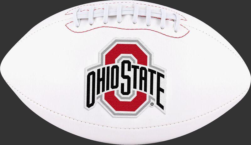 White NCAA Ohio State Buckeyes Football With Team Logo SKU #05733042122