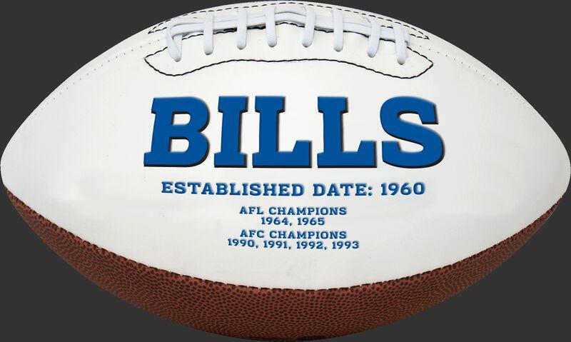 White NFL Buffalo Bills Football With Team Name SKU #06541061811