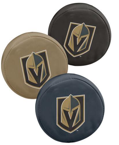 Rawlings NHL Vegas Golden Knights Three Puck Softee Set With Black, Gold, and Grey Pucks and Team Logo SKU #00614422111