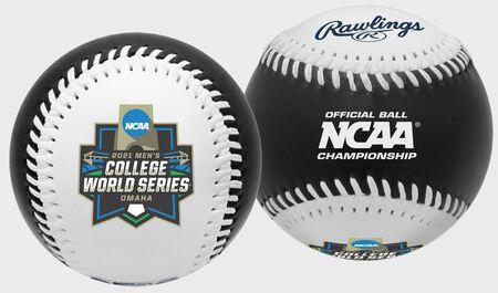 2021 NCAA College World Series Black Replica Baseball