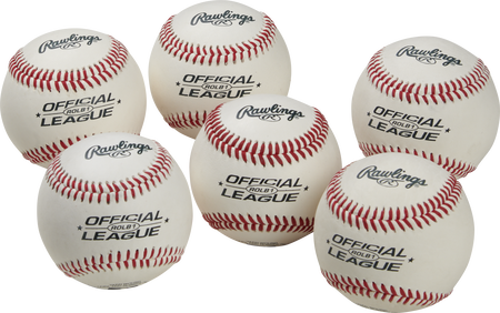 Official League Competition Grade Baseballs | 6 Pack