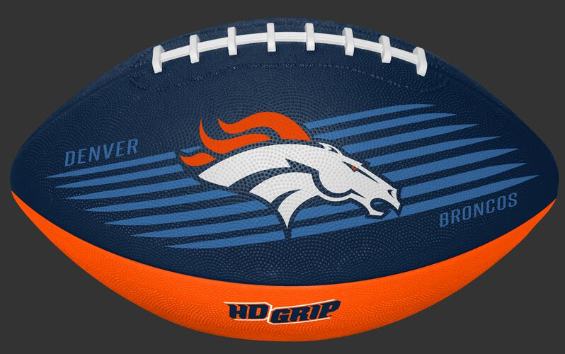 Navy and Orange NFL Denver Broncos Downfield Youth Football With Team Name and Logo SKU #07731066121