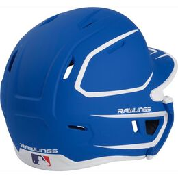 Mach Senior Two-Tone Matte Helmet with EXT Flap Royal