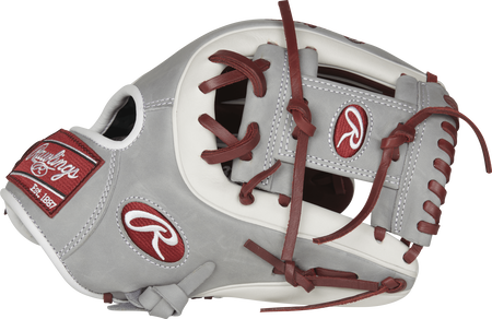 Thumb view of a PRO315-2SHW 11.75-inch Heart of the Hide infield glove with a grey I web
