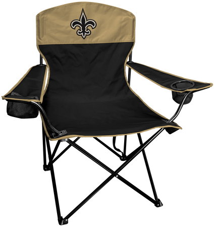 NFL New Orleans Saints Lineman chair with team colors and logo on the back