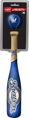 MLB Milwaukee Brewers Slugger Softee Mini Bat and Ball Set