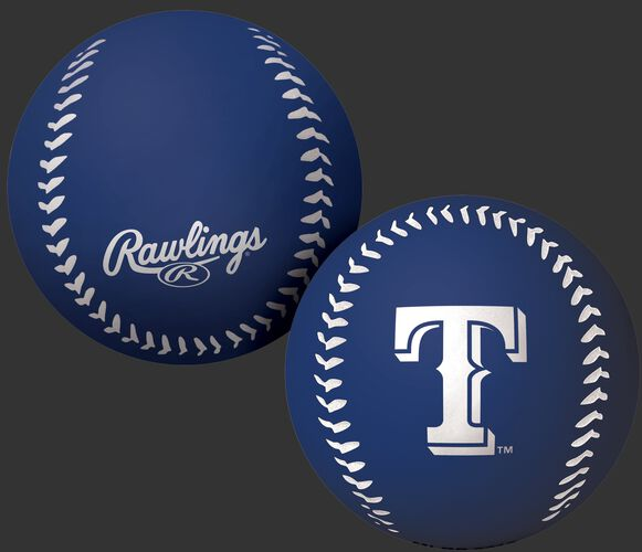 Rawlings Texas Rangers Big Fly Rubber Bounce Ball With Team Logo on Front In Team Colors SKU #02870022112
