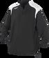 Front of Rawlings Black Adult Long Sleeve Quarter-Zip Jacket - SKU #FORCEJ-B-88