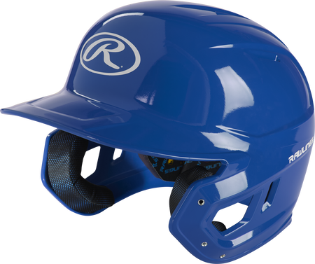 Left angle view of a royal MCH01A Mach high school/college batting helmet