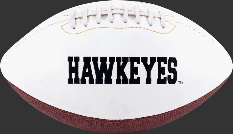 White NCAA Iowa Hawkeyes Football With Team Name SKU #05733075122
