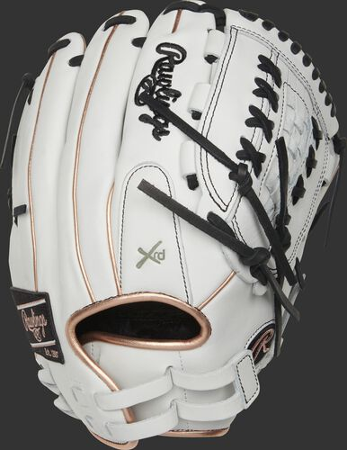 RLA125-18RG 12.5-inch Liberty Advanced outfield/pitcher's glove with rose gold binding/welting and adjustable pull-strap back