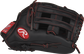 Thumb view of a black R9YPT6-6B R9 Series 12-inch youth outfield glove with a black H web image number null