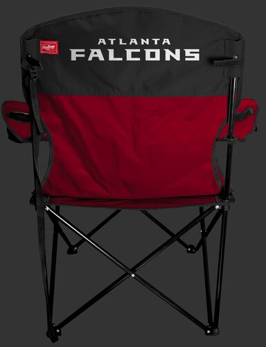 Back of Rawlings Red and Black NFL Atlanta Falcons Lineman Chair With Team Name SKU #31021060111