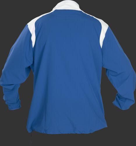 Back of Rawlings Royal Adult Long Sleeve Quarter-Zip Jacket - SKU #FORCEJ-B-88
