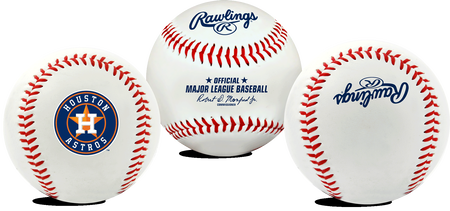 3 views of a MLB Houston Astros baseball