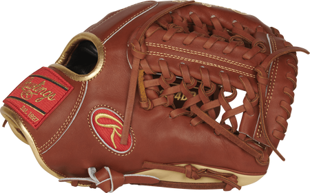 PROS204-4BR 11.5-inch Pro Preferred infield/pitcher's glove with a bruciato/camel thumb and a bruciato modified trap-eze web