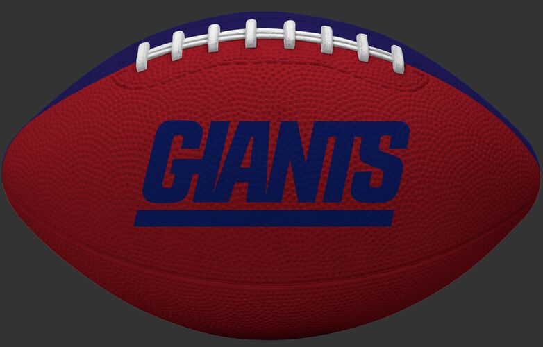 Red side of a New York Giants Gridiron tailgate football with team name SKU #09501078122