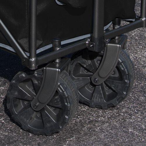 Sturdy wheels of an Oakland Raiders wagon SKU #00931072519