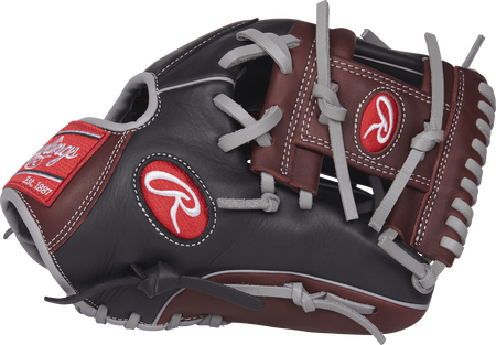 Thumb view of a R9204-2BSG R9 Series 11.5-inch infield glove with a dark sherry I web