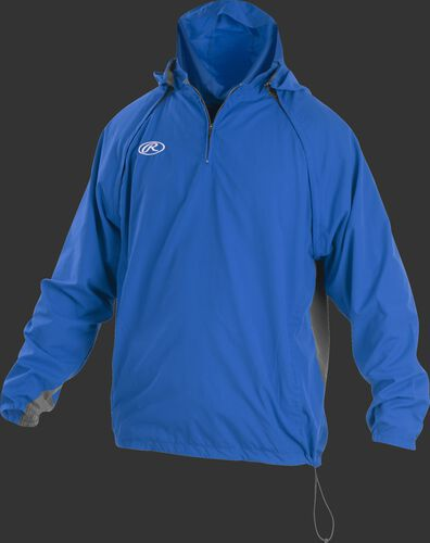 Front of Rawlings Royal Youth Long/Short Sleeve Jacket - SKU #YTRITHR-DG-89