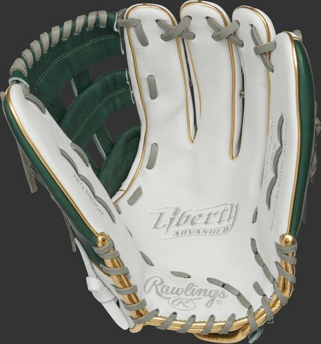 Liberty Advanced Color Series 13-Inch Outfield Glove White/Dark Green