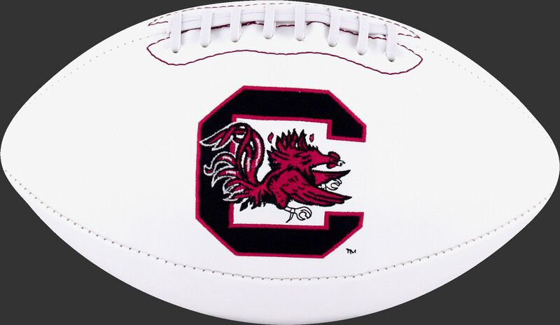 White NCAA South Carolina Gamecocks Football With Team Logo SKU #05733098121