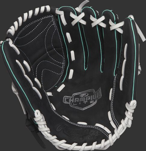 CL115BMT Rawlings 11.5-inch softball infield glove with a black palm and white palms