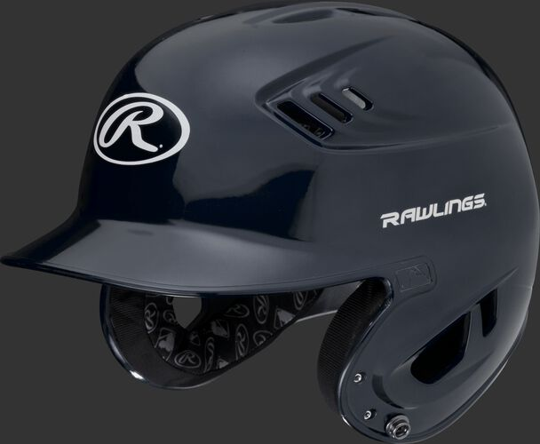 A metallic navy R16S Velo senior batting helmet with Cool-Flo vents