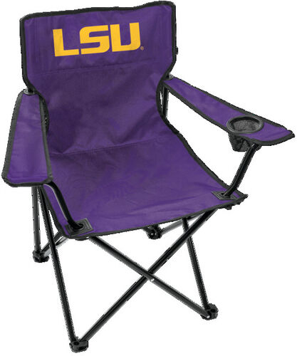Front of Rawlings Purple NCAA Louisiana State Tigers Gameday Elite Chair With Team Logo SKU #00563035111