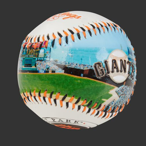 Stadium picture of a San Francisco Giants stadium baseball