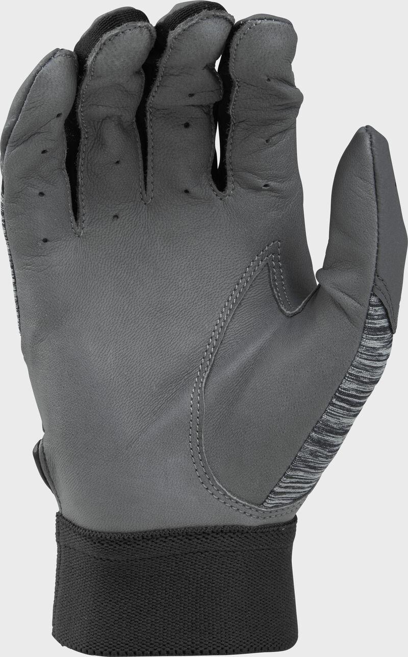 Grey palm of a grey/black 5150GBGY youth 5150 bating glove