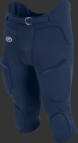 Front of Rawlings Navy Adult Lightweight Football Pants - SKU #FPL