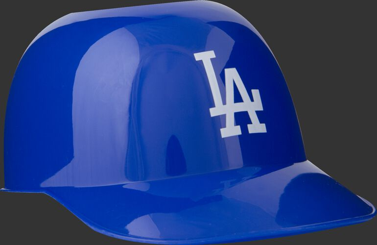 Front of Rawlings Blue MLB Los Angeles Dodger Snack Size Helmets With Team Logo SKU #01950011121