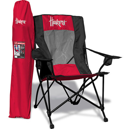 Front of Rawlings Red and Black NCAA Nebraska Cornhuskers High Back Chair With Team Logo SKU #09403089518