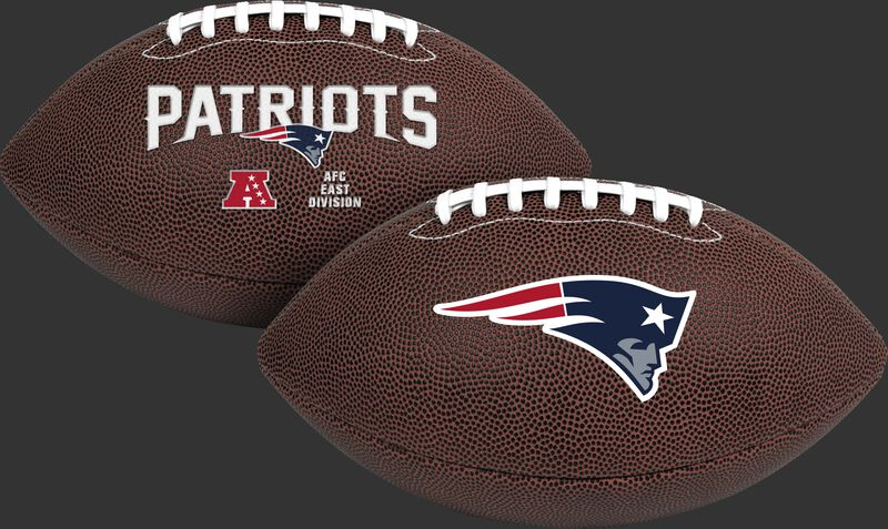 NFL New England Patriots Air-It-Out youth football with team name and logo SKU #08041076121